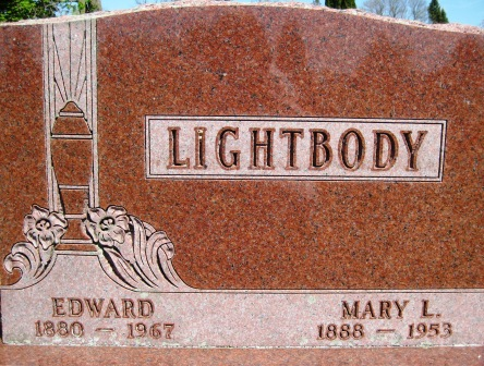 LIGHTBODY, MARY L. - Cerro Gordo County, Iowa   MARY L. LIGHTBODY