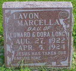 LONG, LAVON MARCELLA - Cerro Gordo County, Iowa | LAVON MARCELLA LONG
