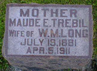 TREBIL LONG, MAUDE E. - Cerro Gordo County, Iowa | MAUDE E. TREBIL LONG