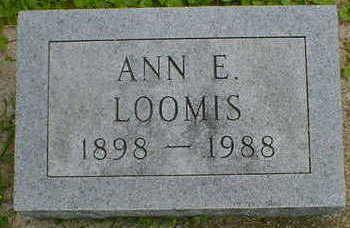 LOOMIS, ANN E. - Cerro Gordo County, Iowa   ANN E. LOOMIS