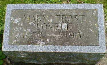 FROST LOVELL, MARY - Cerro Gordo County, Iowa | MARY FROST LOVELL