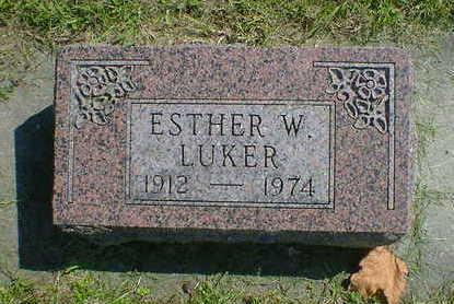 LUKER, ESTHER W. - Cerro Gordo County, Iowa   ESTHER W. LUKER