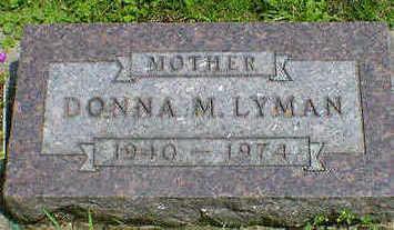 LYMAN, DONNA M. - Cerro Gordo County, Iowa | DONNA M. LYMAN