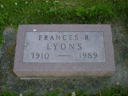 LYONS, FRANCES R. - Cerro Gordo County, Iowa   FRANCES R. LYONS