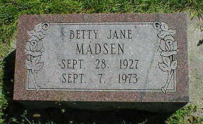 MADSEN, BETTY JANE - Cerro Gordo County, Iowa | BETTY JANE MADSEN