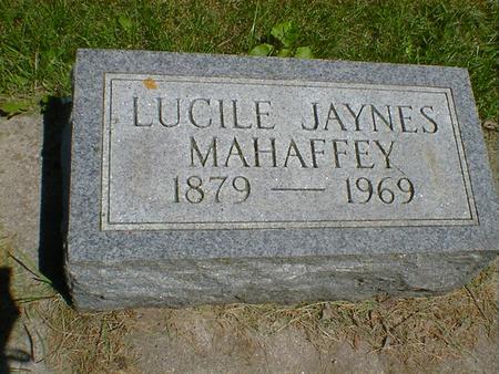 JAYNES MAHAFFEY, LUCILLE - Cerro Gordo County, Iowa | LUCILLE JAYNES MAHAFFEY