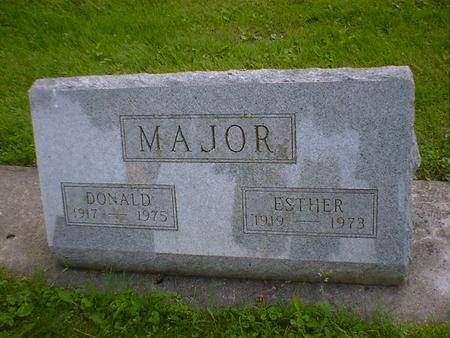 MAJOR, ESTHER - Cerro Gordo County, Iowa | ESTHER MAJOR