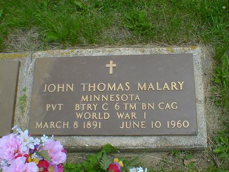 MALARY, JOHN THOMAS - Cerro Gordo County, Iowa | JOHN THOMAS MALARY