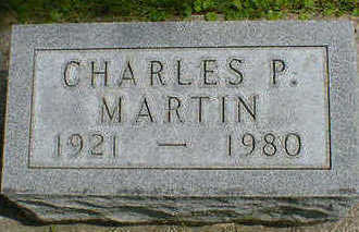 MARTIN, CHARLES P. - Cerro Gordo County, Iowa | CHARLES P. MARTIN