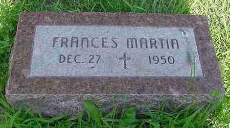 MARTIN, FRANCES - Cerro Gordo County, Iowa | FRANCES MARTIN