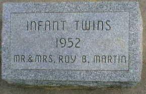 MARTIN, INFANT TWINS - Cerro Gordo County, Iowa | INFANT TWINS MARTIN