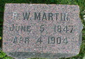 MARTIN, R. W. - Cerro Gordo County, Iowa | R. W. MARTIN