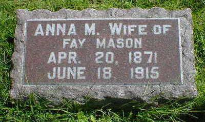 MASON, ANNA M. - Cerro Gordo County, Iowa | ANNA M. MASON