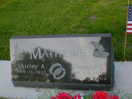 MATHEWS, DONALD L. - Cerro Gordo County, Iowa | DONALD L. MATHEWS