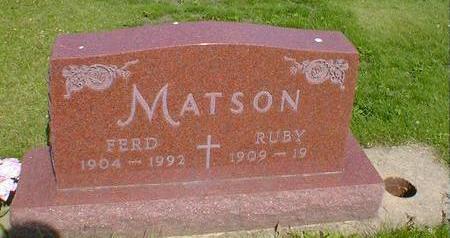 MATSON, FERD - Cerro Gordo County, Iowa | FERD MATSON