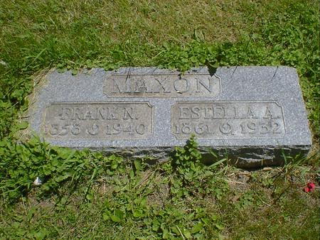 MAXON, ESTELLA A. - Cerro Gordo County, Iowa | ESTELLA A. MAXON