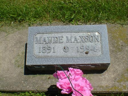 MAXSON, MAUDE - Cerro Gordo County, Iowa | MAUDE MAXSON