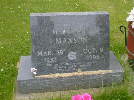 MAXSON, MARY ROSE - Cerro Gordo County, Iowa | MARY ROSE MAXSON