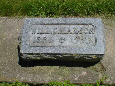 MAXSON, WILL C. - Cerro Gordo County, Iowa | WILL C. MAXSON