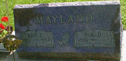 MAYLAND, BEN B. - Cerro Gordo County, Iowa | BEN B. MAYLAND