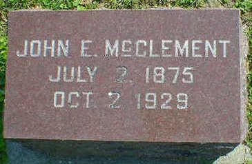 MCCLEMENT, JOHN E. - Cerro Gordo County, Iowa | JOHN E. MCCLEMENT