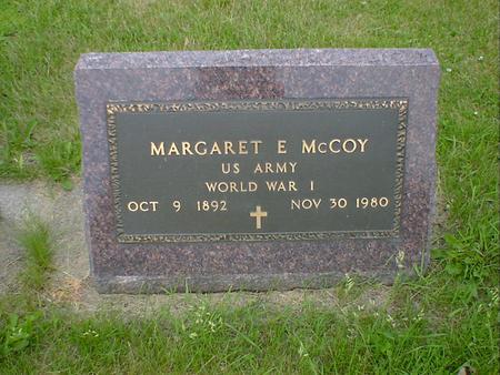 MCCOY, MARGARET E. - Cerro Gordo County, Iowa | MARGARET E. MCCOY