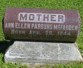 PARSONS MCFADDEN, ANN ELLEN - Cerro Gordo County, Iowa | ANN ELLEN PARSONS MCFADDEN