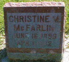 MCFARLIN, CHRISTINE M. - Cerro Gordo County, Iowa | CHRISTINE M. MCFARLIN