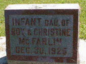MCFARLIN, INFANT - Cerro Gordo County, Iowa | INFANT MCFARLIN
