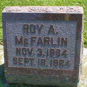 MCFARLIN, ROY A. - Cerro Gordo County, Iowa   ROY A. MCFARLIN