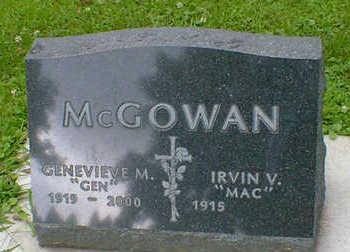 MCGOWAN, GENEVIEVE M. - Cerro Gordo County, Iowa | GENEVIEVE M. MCGOWAN