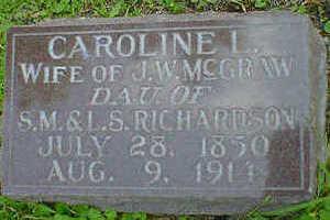 RICHARDSON MCGRAW, CAROLINE L. - Cerro Gordo County, Iowa | CAROLINE L. RICHARDSON MCGRAW