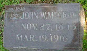 MCGRAW, JOHN W. - Cerro Gordo County, Iowa   JOHN W. MCGRAW