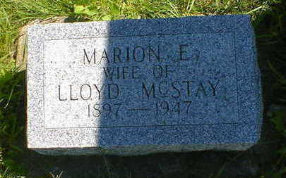 MCSTAY, MARION E. - Cerro Gordo County, Iowa | MARION E. MCSTAY