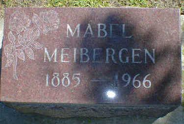 MEIBERGEN, MABEL - Cerro Gordo County, Iowa   MABEL MEIBERGEN