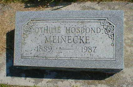 HOSBOND MEINECKE, OTHILIE - Cerro Gordo County, Iowa | OTHILIE HOSBOND MEINECKE