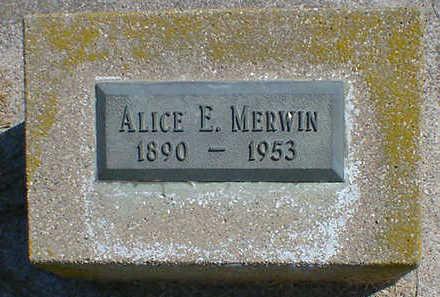 MERWIN, ALICE E. - Cerro Gordo County, Iowa   ALICE E. MERWIN