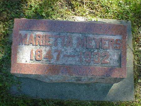 MEYERS, MARIETTA - Cerro Gordo County, Iowa   MARIETTA MEYERS