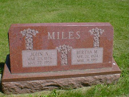 MILES, BERTHA M. - Cerro Gordo County, Iowa | BERTHA M. MILES
