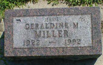 MILLER, GERALDINE M. - Cerro Gordo County, Iowa | GERALDINE M. MILLER
