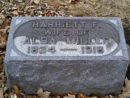 MILLER, HARRIETT - Cerro Gordo County, Iowa | HARRIETT MILLER