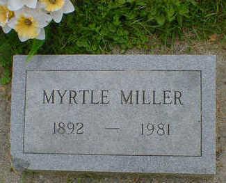MILLER, MYRTLE - Cerro Gordo County, Iowa | MYRTLE MILLER