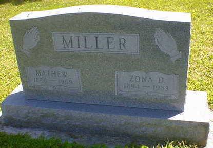 MILLER, ZONA D. - Cerro Gordo County, Iowa | ZONA D. MILLER