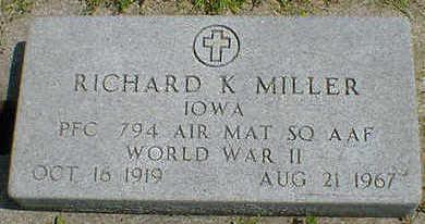 MILLER, RICHARD K. - Cerro Gordo County, Iowa   RICHARD K. MILLER