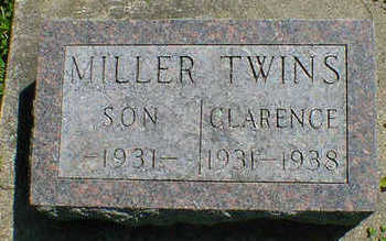 MILLER, TWIN CLARENCE - Cerro Gordo County, Iowa | TWIN CLARENCE MILLER