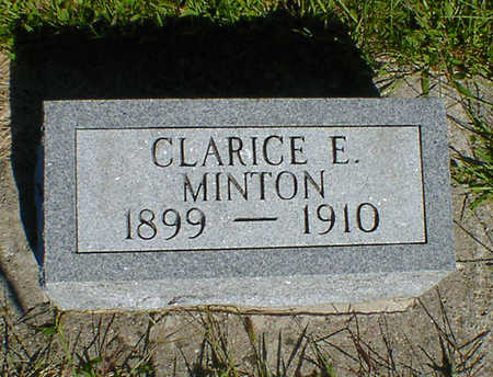 MINTON, CLARICE E. - Cerro Gordo County, Iowa | CLARICE E. MINTON