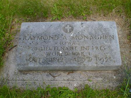MONAGHEN, RAYMOND A. - Cerro Gordo County, Iowa   RAYMOND A. MONAGHEN