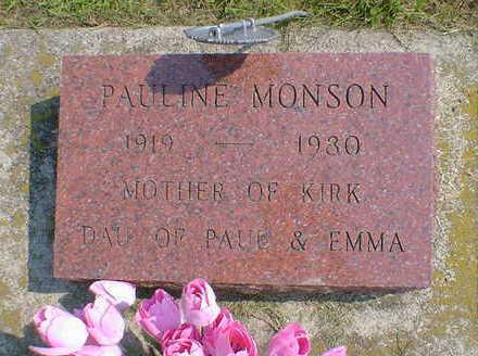 MONSON, PAULINE - Cerro Gordo County, Iowa | PAULINE MONSON