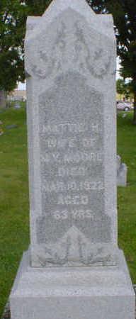 MOORE, MATTIE H. - Cerro Gordo County, Iowa | MATTIE H. MOORE