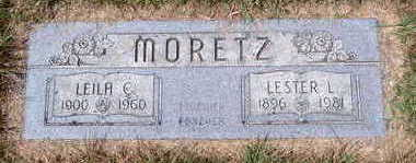 MORETZ, LESTER LUTHER - Cerro Gordo County, Iowa | LESTER LUTHER MORETZ